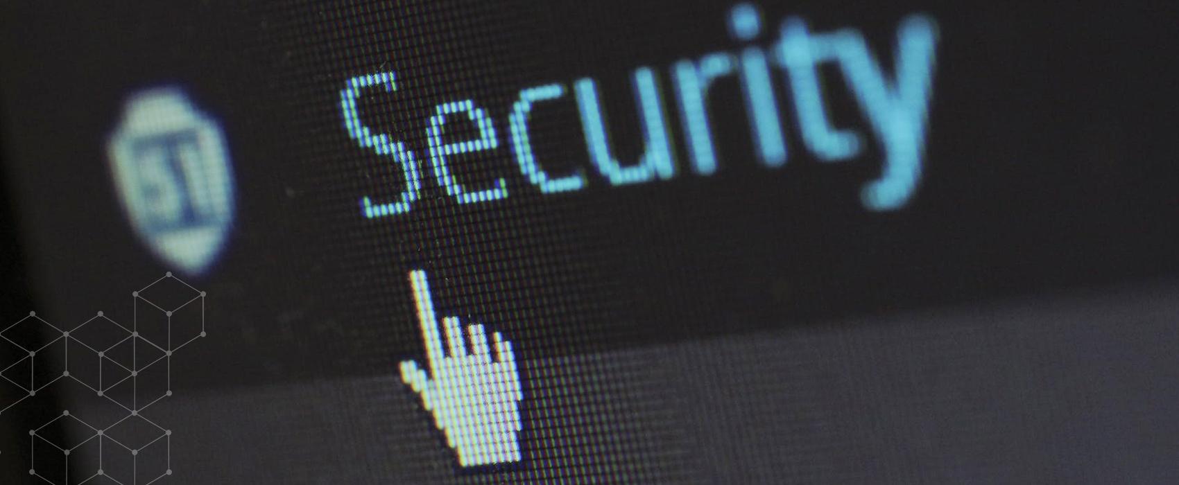 "Cursor on ""Security"" link"
