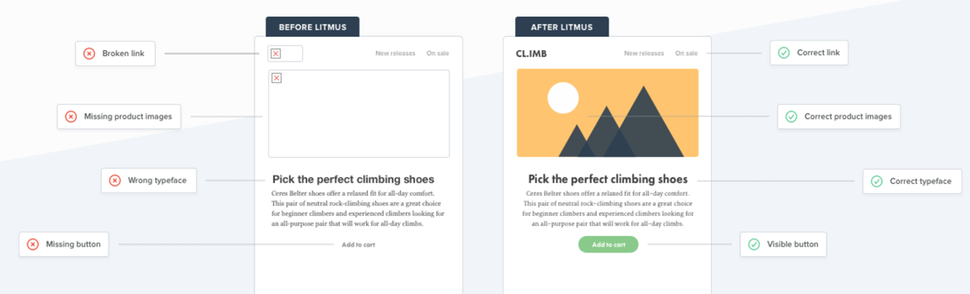 Email testing through Litmus