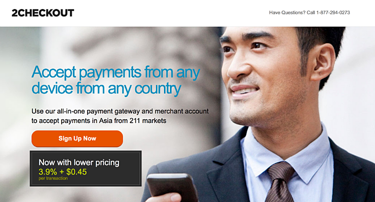 2Checkout for ecommerce payment in Singapore