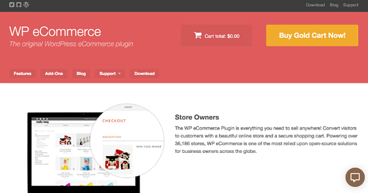 WP ecommerce is another popular plugin choice for Wordpress ecommerce