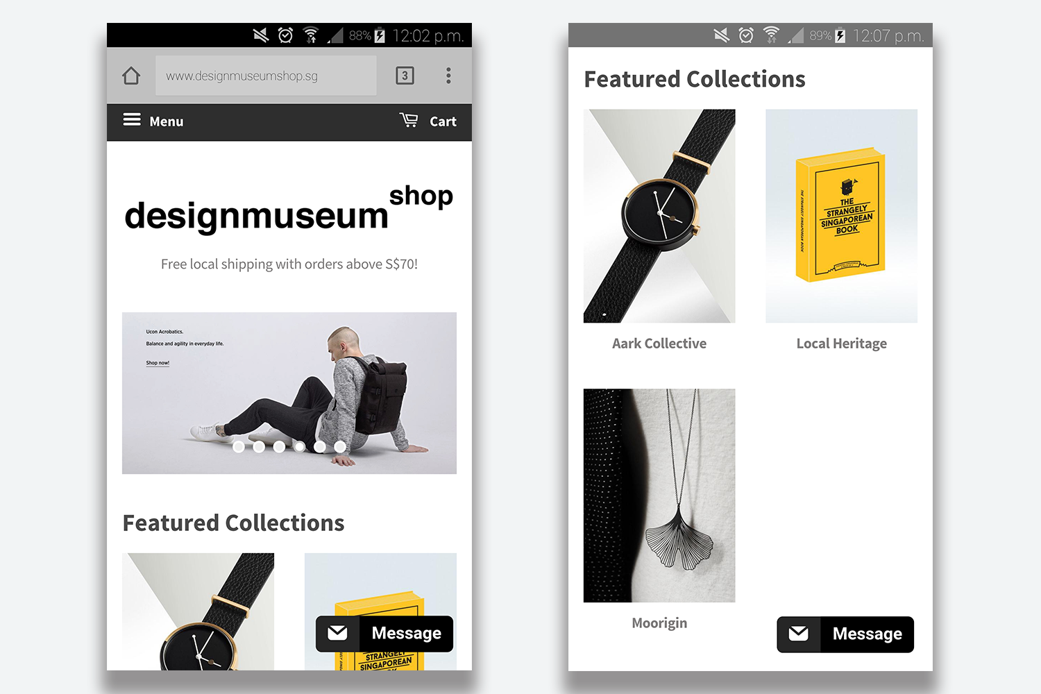 Mobile_view_of_Design_Museum_Shop_website