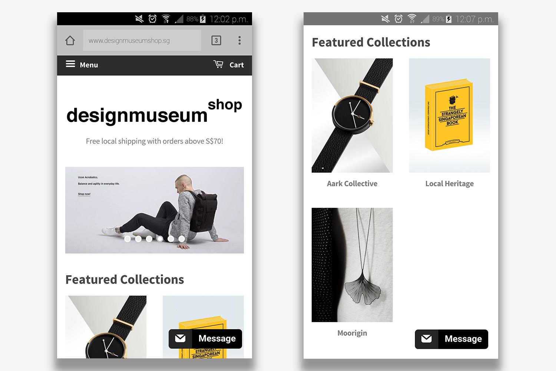 Mobile_view_of_Design_Museum_Shop_website