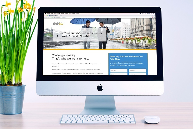 Net new lead nurturing campaign for SAP