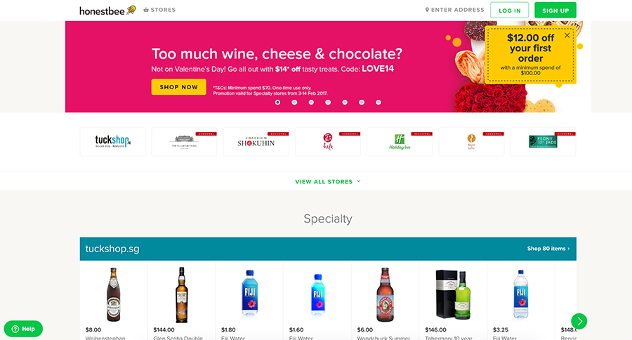 Honestbee offers online grocery delivery