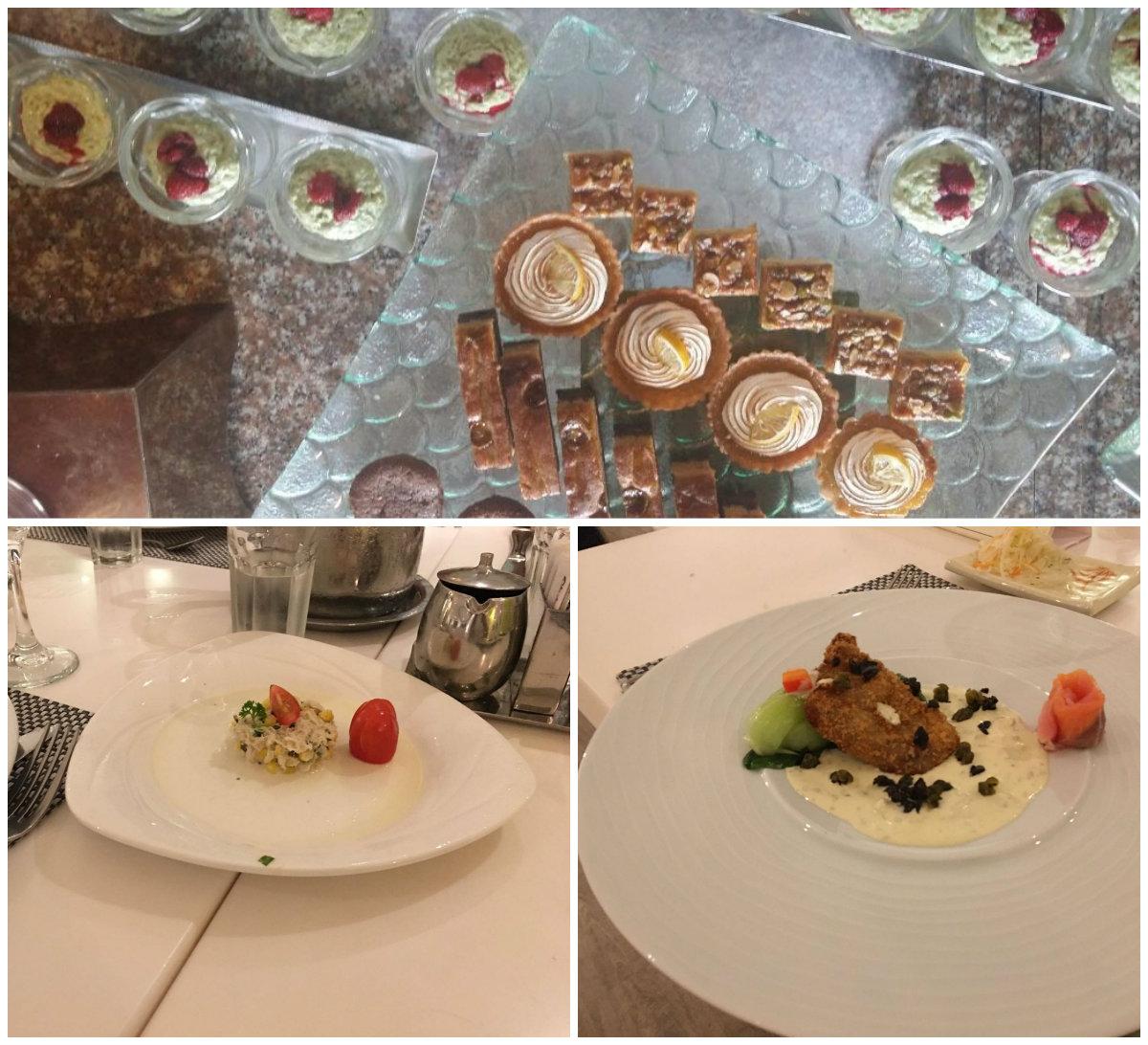 Some of the food from Club Mediterranean Bintan