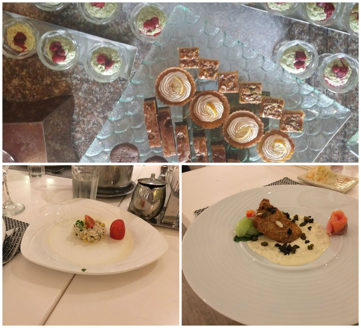 Some of the food from Club Mediterranean Bintan