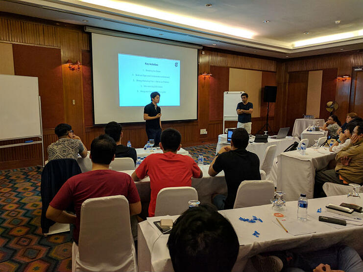 Alfred and Charan led the team planning at Bintan Lagoon Resort