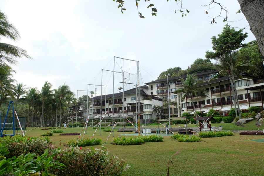 Trapeze school in Club Mediterranean Bintan