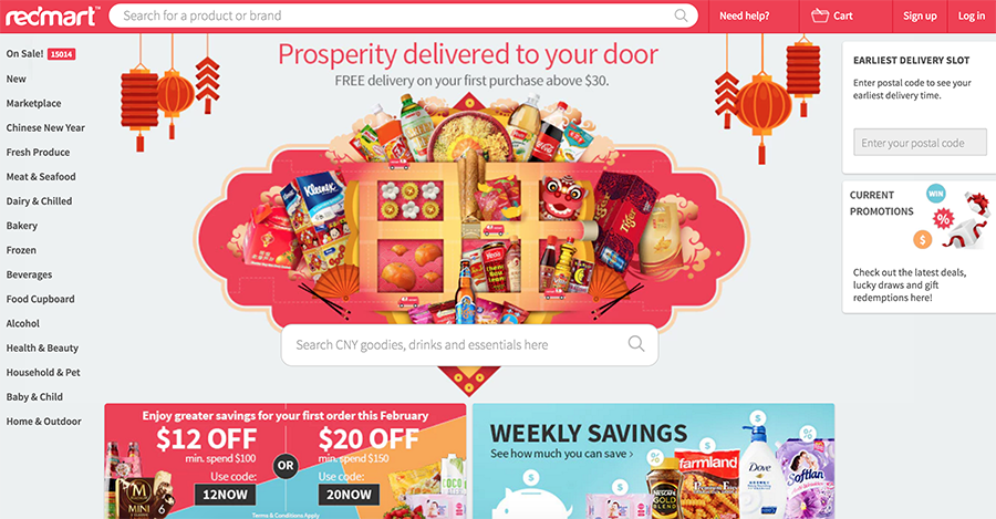 Redmart is an online grocery store in Singapore