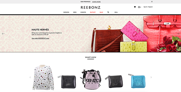 Reebonz is a luxury website