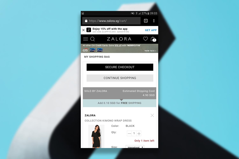 Zalora_checkout_page_example