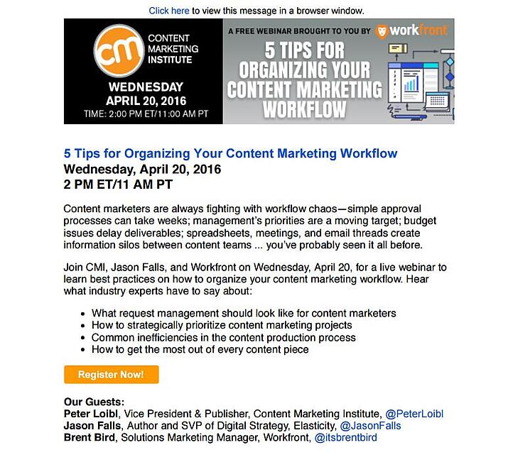 B2B_email_marketing_example_from_Content_Marketing_Institute
