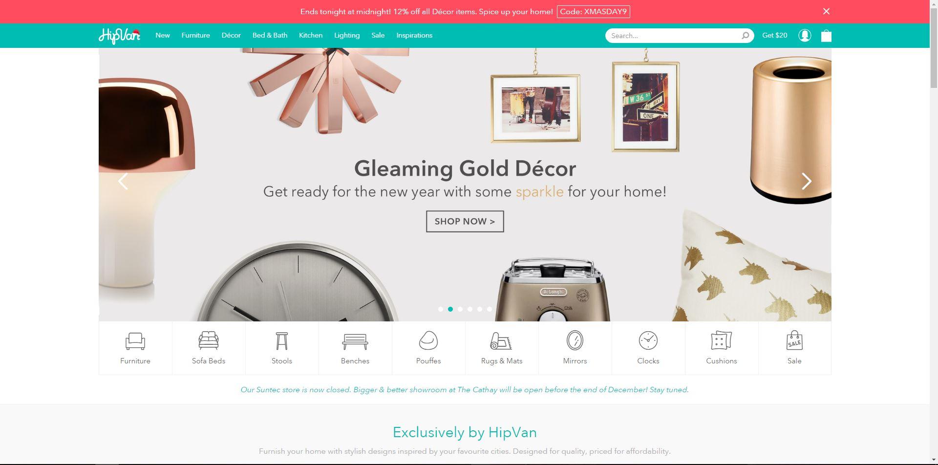 HipVan homepage