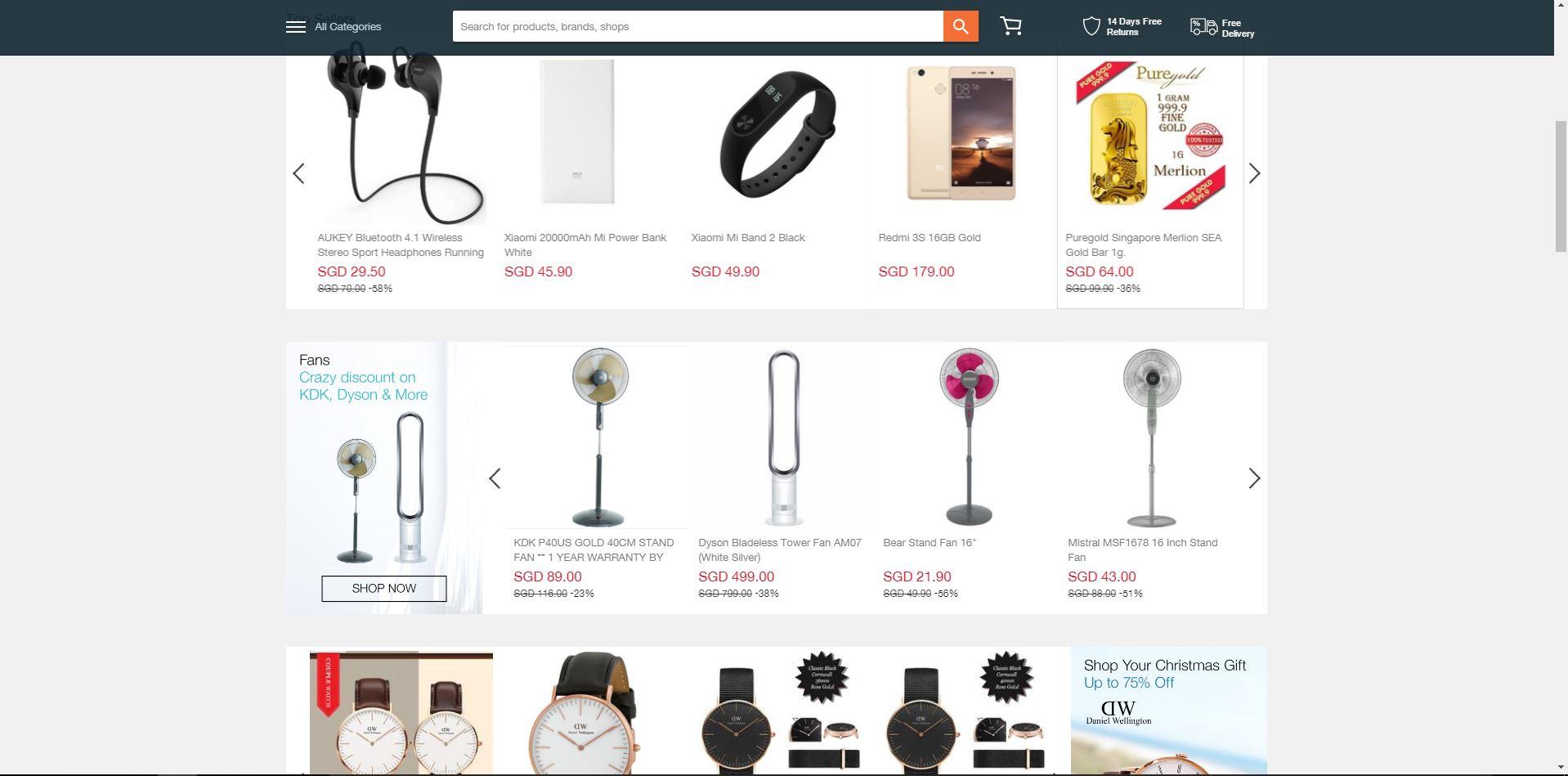 Lazada online retail store