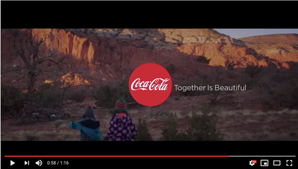 Screenshot taken from Coca Cola Youtube channel