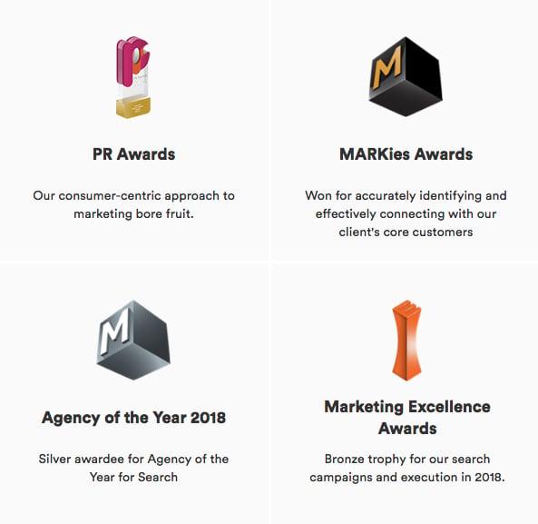 Construct Digital Agency Marketing Awards 2018