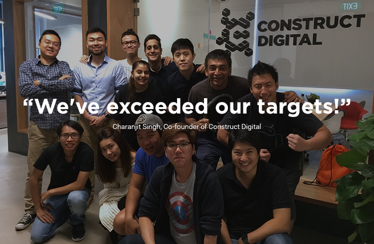 Team Construct Digital at the office
