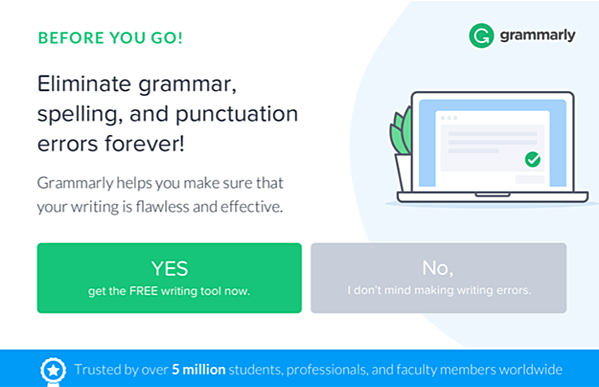 Grammarly-confirmshaming