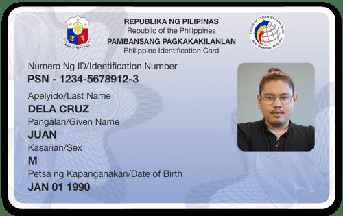 Philippine National ID - Card mockup