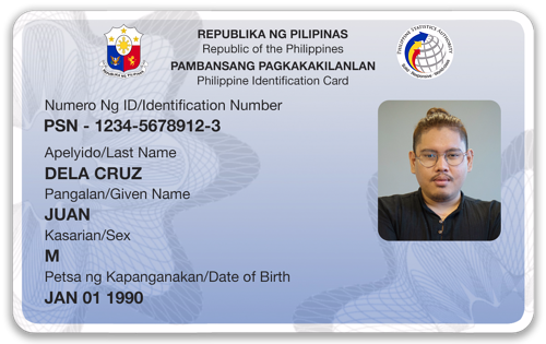Philippine National ID - Card mockup