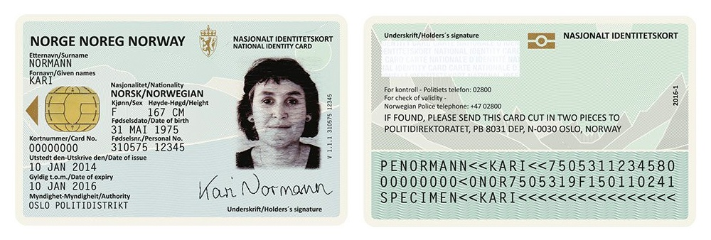 Philippine National ID - Norway National ID