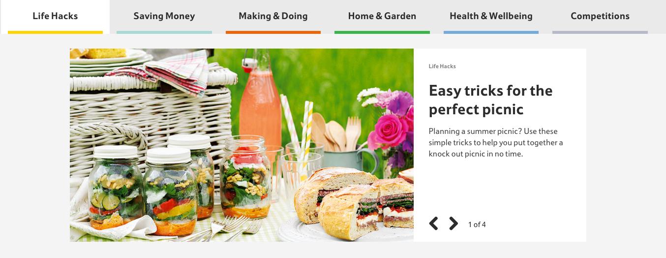 Tesco Living Website