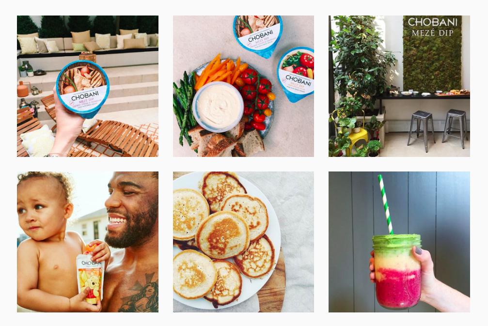 Chobani's Instagram