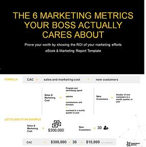 Free Ebook Report Template 6 Marketing Roi Metrics For Digital