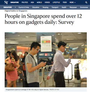 singaporeans spend half time 12 hours digital media