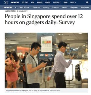 singaporeans spend half time 12 hours digital media