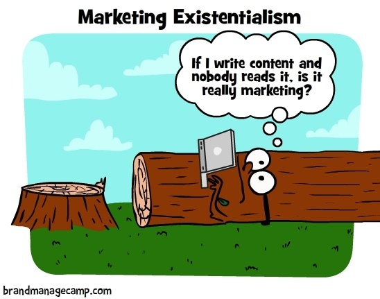Marketing existentialism comic
