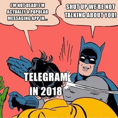 telegram in 2018