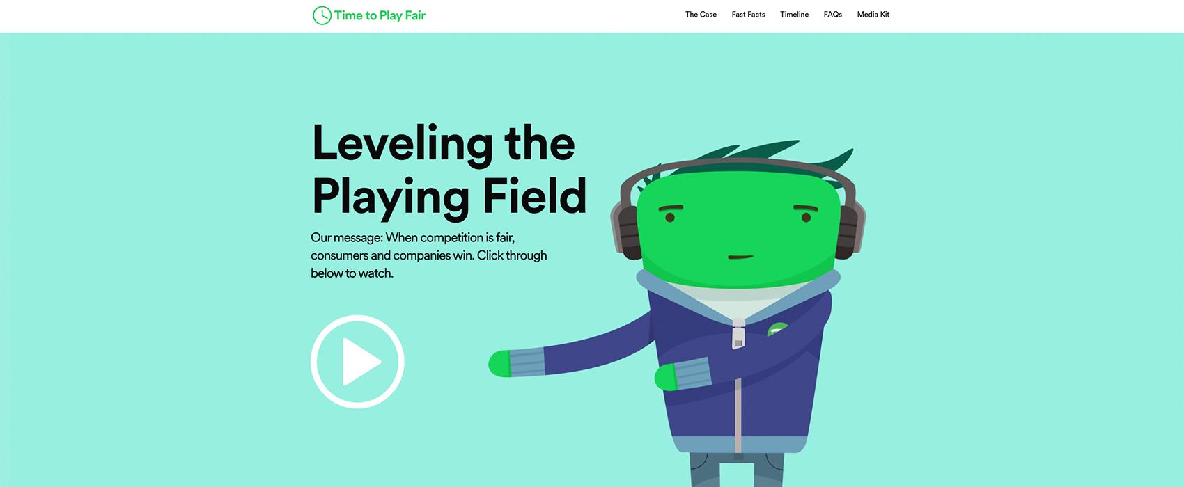 timetoplayfair-spotify-website