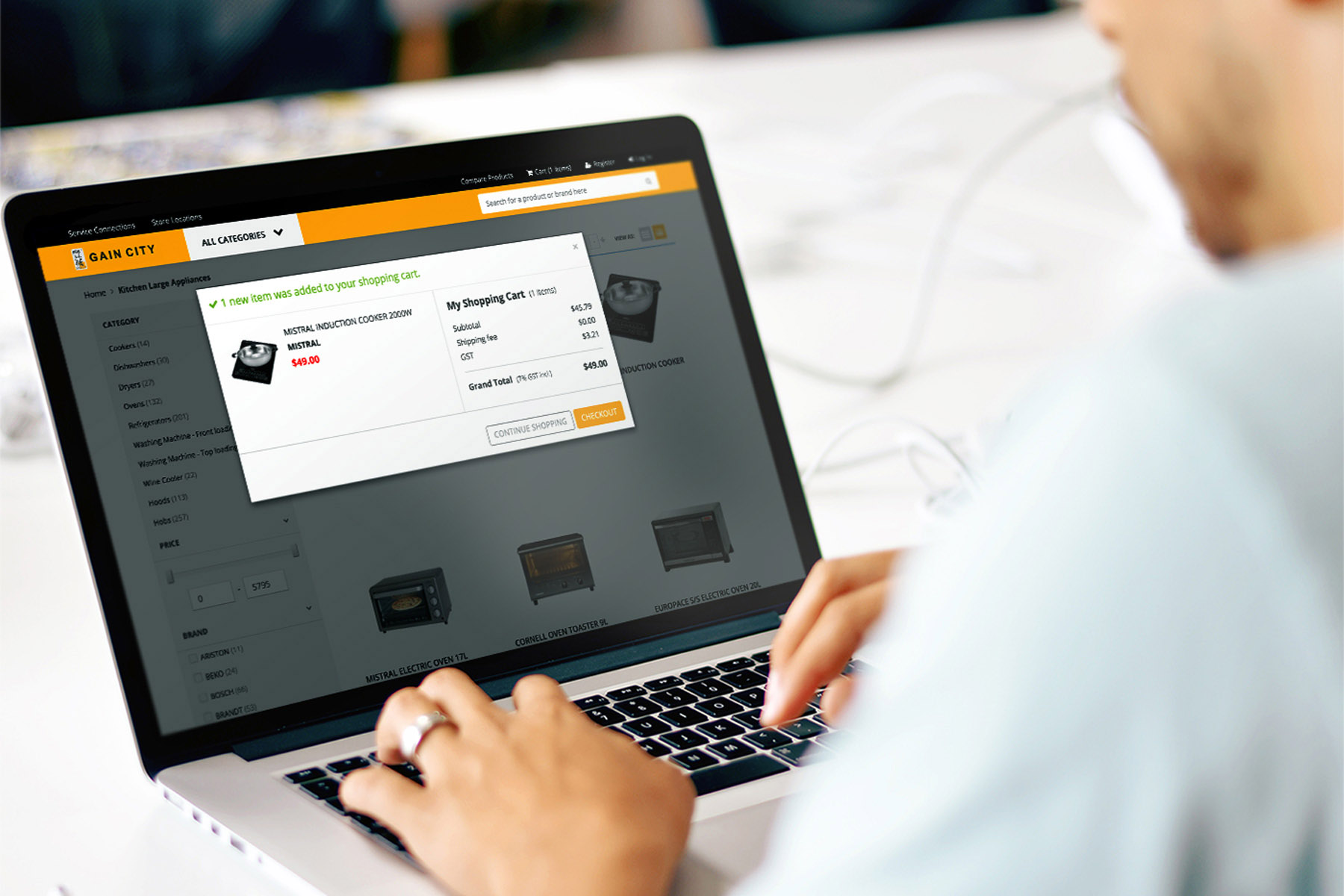 Magento Ecommerce Website Design Case Study GainCity
