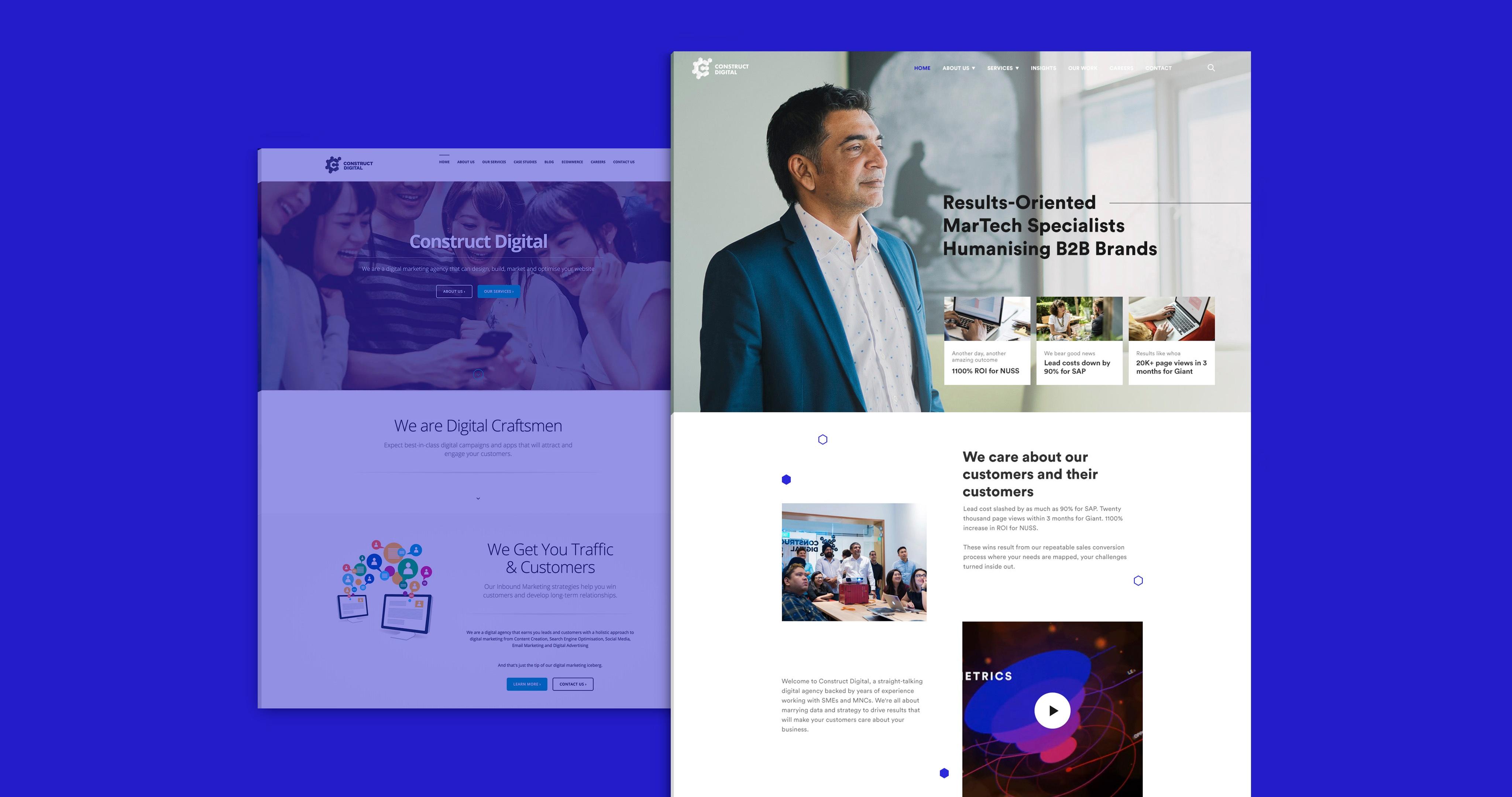 Visual overhauls on the website