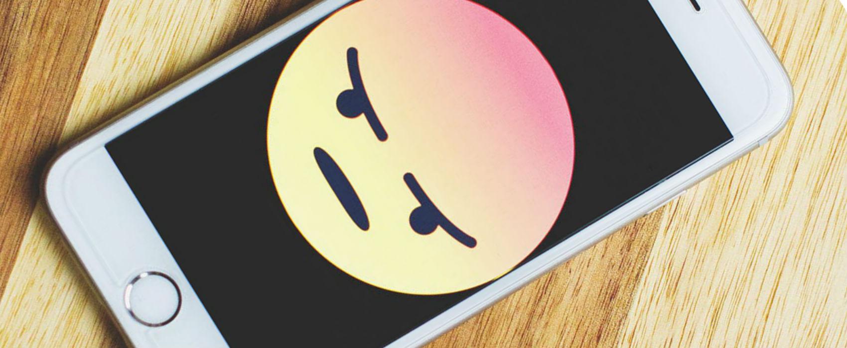 angry emoji on smartphone